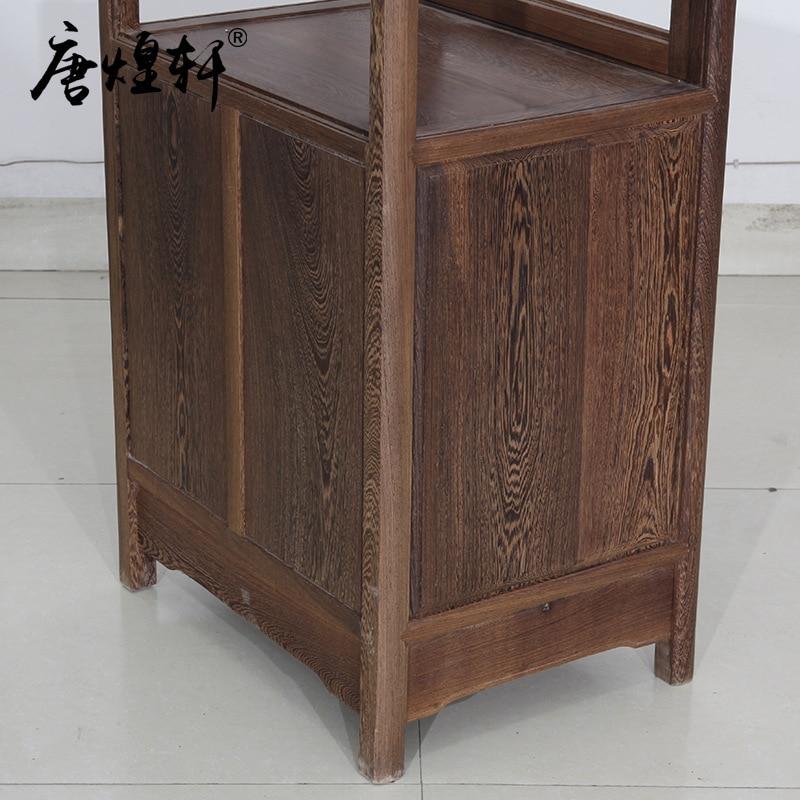 Mahogany furniture wenge wood single door glass wine cabinet