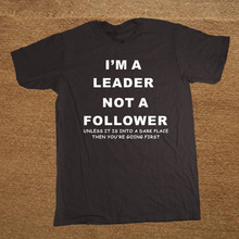 Funny Novelty Joke Quote Fashion Popular Mens T-Shirt – I'm a Leader T Shirts Summer Casual Letters Printing Tee Tops Clothes