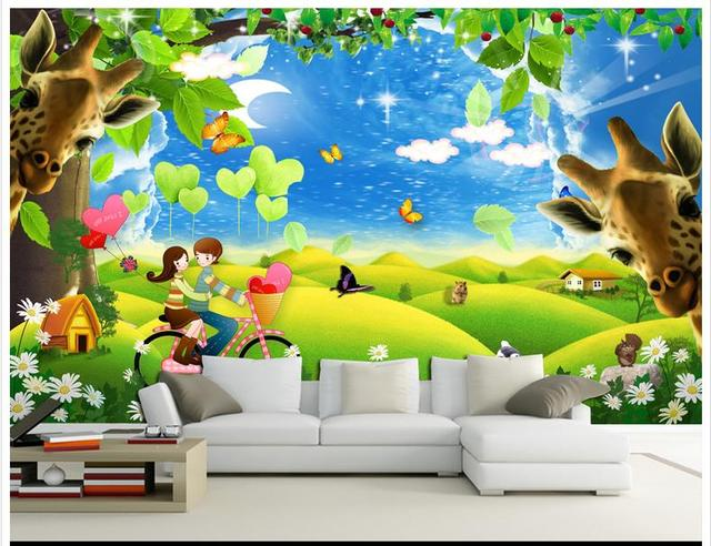 3d Wallpaper Custom Picture Mural Wall Paper 3d Romantic Couple