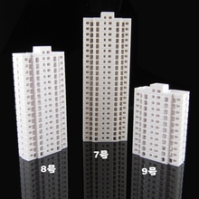 Model high building 1/500-800 scale houses for train layout architecturals