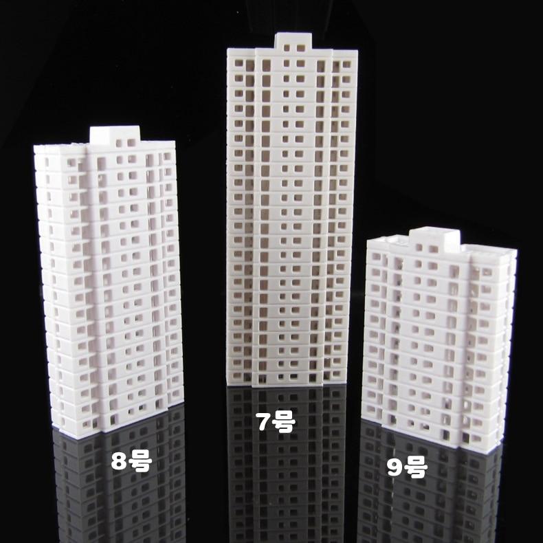 Масштабные дома модели high building 1/500-800 для архитектурной планировки поездов