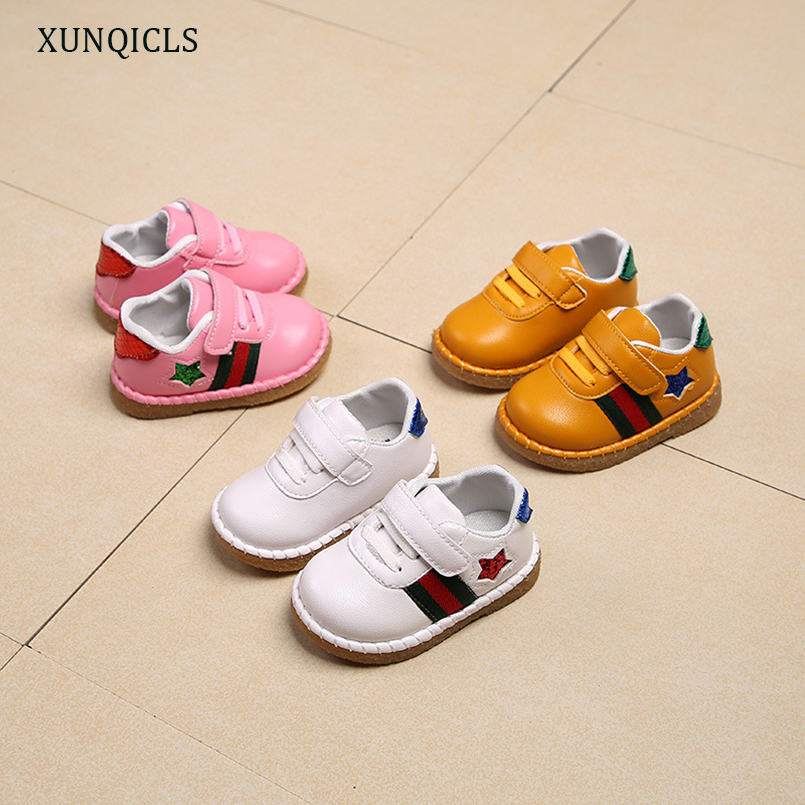 XUNQICLS 2018 New Kids Sneakers Shoes Toddler Boys Single Shoe Soft Sole Girls Firstwalkers Non-slip Baby Prewalker Spring Autum