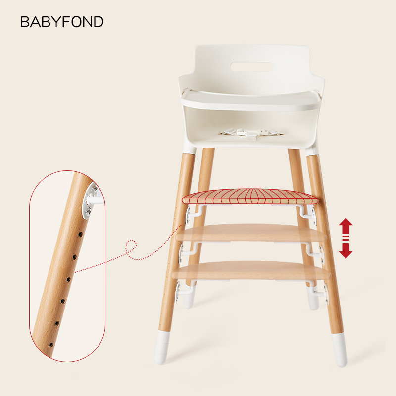 Imported Solid Wood Dining Chair For Children Multifunctional Baby Chair Seat Of Baby Products Exported