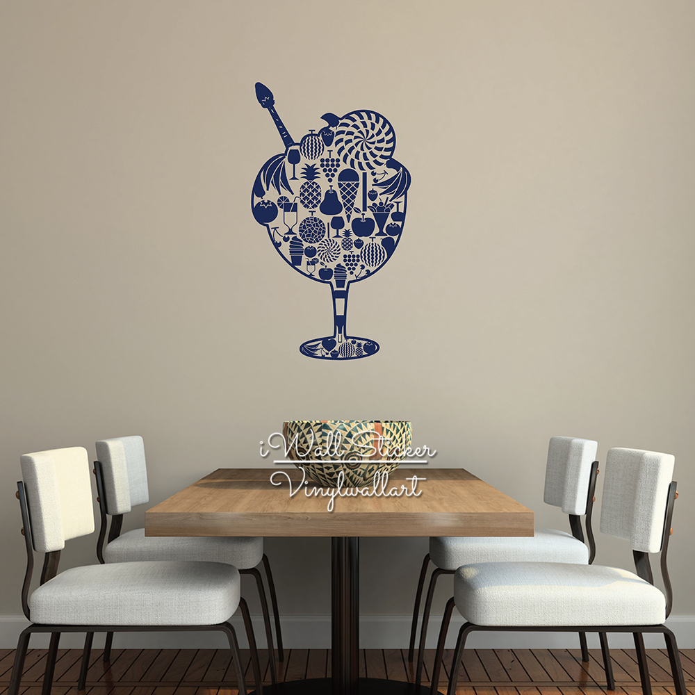 fruit wall sticker modern fruit wall decal diy dining room wall decals