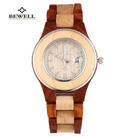 BEWELL Wooden Women Quartz Watches Luxury Brand For Female Fashion Casual Clock Women Wristwatch Clock Relogio