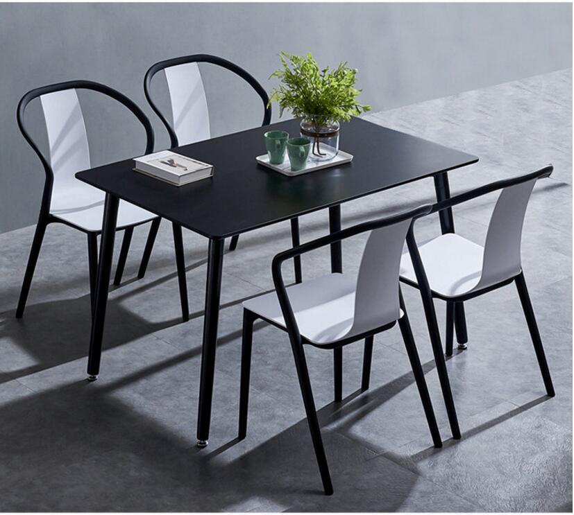 Black Beetle Chair Modern Simple Backrest Chair Home Creative Design Casual Fashion Plastic Chair