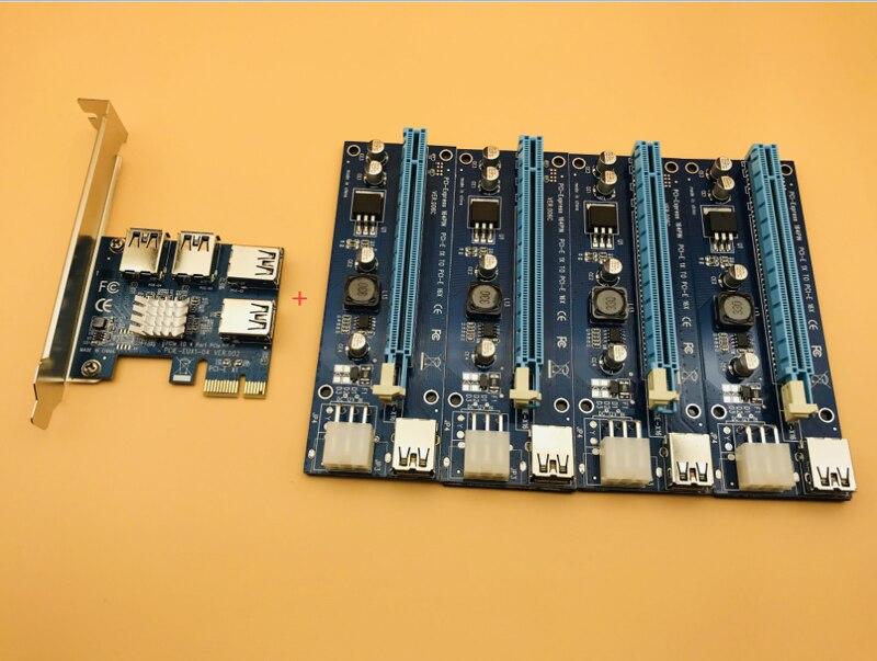 NOUVELLE carte de minage PCIe 1 à 4 PCI Express 16X Slots Riser Carte PCI-E 1X à 16x Externe Slot PCI-e Adaptateur port Multiplicateur pour BTC