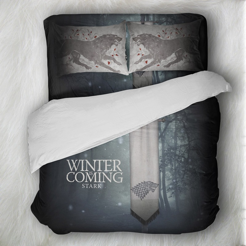 Skull Bedding Set Game Of Thrones Wolf Bedding Sets Queen Size Duvet Cover Sets Pillowcases Bed
