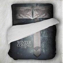 Skull Bedding Set Game Of Thrones Wolf Sets Queen Size Duvet Cover Pillowcases Bed Linen colcha de