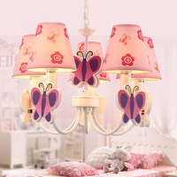 Simple Fashion Children room Pink Princess Droplight Girl Sweet Butterfly Dream Pendant Light