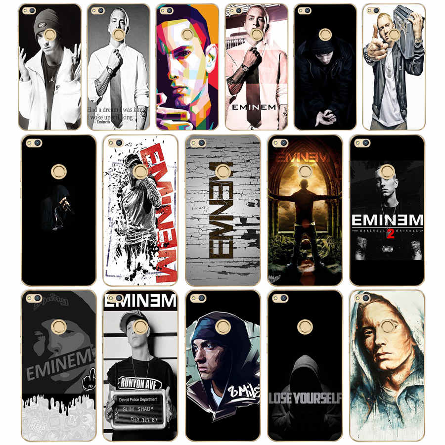 115dd Hop Rapper Eminem Rap Hard Transparent Cover Case For Huawei P8 P20 Honor 9 Lite Mate 10 Pro Y6 Y5 2017