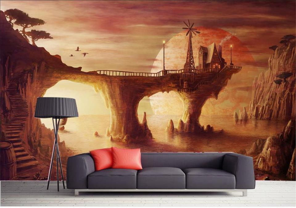 3d room wallpaper custom mural photo Anime sky sunset painting picture 3d wall non-woven murals wallpaper for walls 3d 3d ceiling murals wallpaper custom photo non woven sky dandelion dove leaves painting 3d wall mural wallpaper for living room