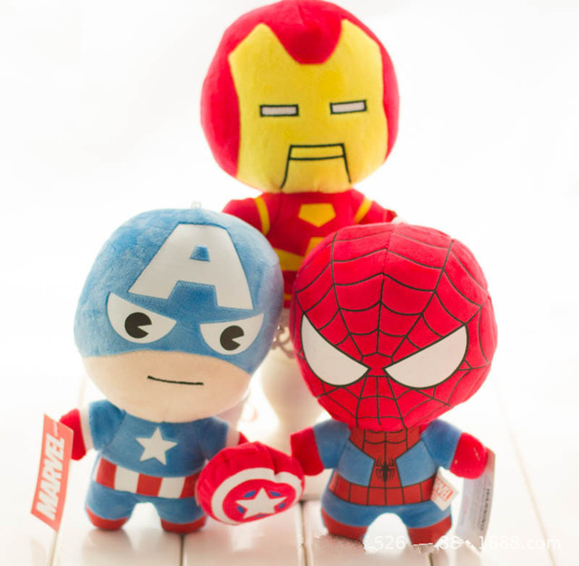 Vingadores da marvel Homem De Ferro Brinquedos de Pelúcia Hulk Thor Capitão América homem-Aranha de Pelúcia Anime Super-heróis Brinquedos de Pelúcia Boneca Macia grande Presente