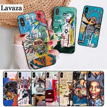 Lavaza Jean Michel Basquiat Art Graffiti Silicone Case for iPhone 5 5S 6 6S Plus 7 8 11 Pro X XS Max XR