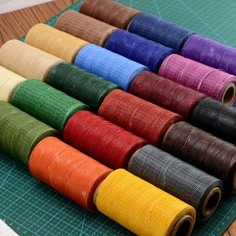 Venta caliente 240 m 150d coser plana Cera línea hecha a mano diy para cuero 1mm plana Cera Ed Costura nylon hilos Cera nylon Hilos máquina