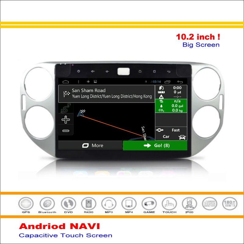 Android sistema de navegación multimedia de coche para volkswagen vw tiguan 2007