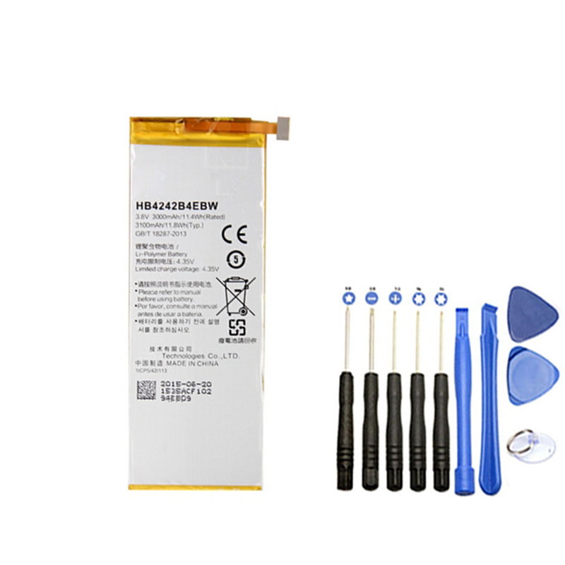 New Battery HB4242B4EBW 3000mAh With Repair Tool For Huawei Honor 6 Moblie Phone free shipping