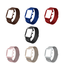 CARLYWET Milan Case Strap for Apple iphone Watch strap 38 42 mm Band Stainless Steel Metal Bands Shockproof Magnetic Iwatch