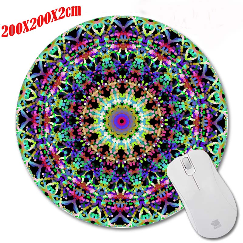 Mairuige New High Quality Hot Scenery Cool Durable Gaming Optical Computer Mouse Mat Mice Pads Soft Silicone Round Mouse Pad
