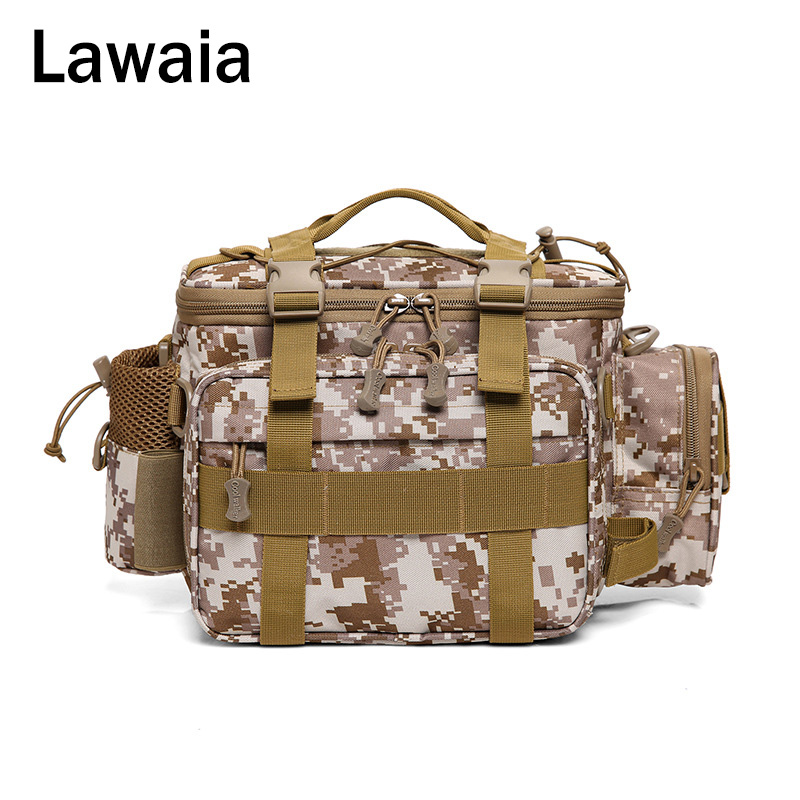 Lawaia Fish Bag Luya Pocket Male Travel Outdoor Backpack Shoulder Slung Camouflage Tactical New Fishing Package Tool
