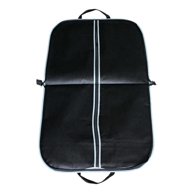 Portable Black Thicken Clothes Dust Cover with Zipper Men's Suit Coat Storage Cover Travel Business Folding Hanger Bag FK004