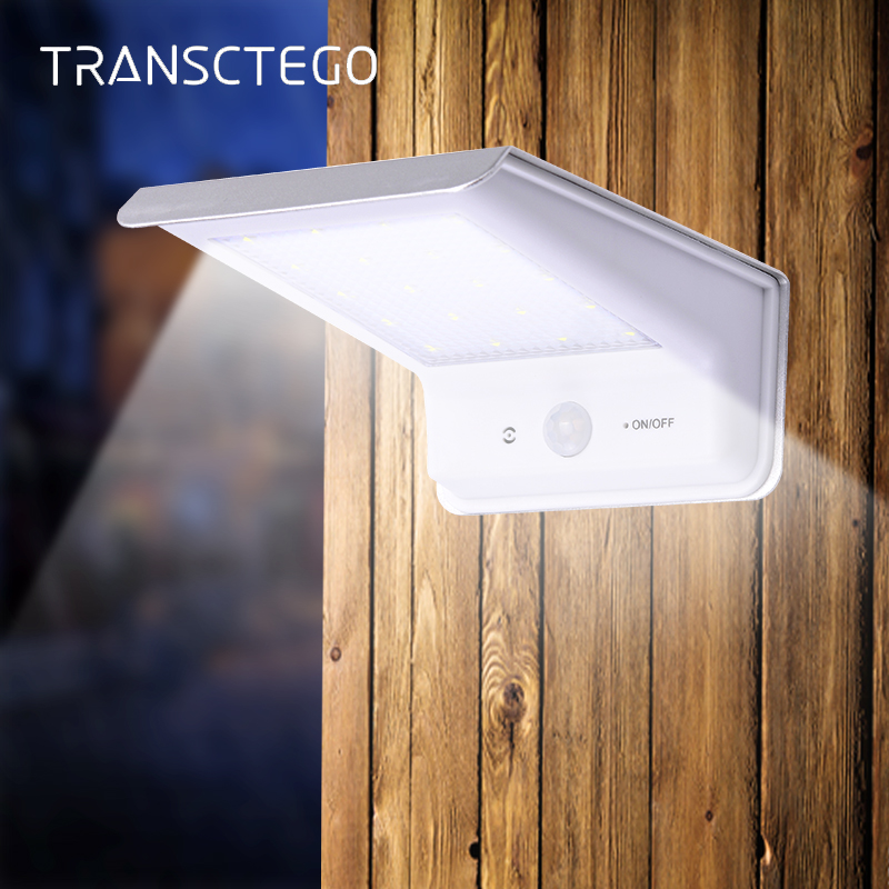 20 Led Solar Light PIR Motion Sensor Outdoor IP65 Waterproof Pathway Solar Powered Lamp For Garden Street Lights Modern Lantern