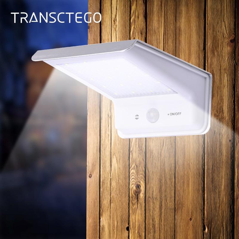 20 Led Solar Light PIR Motion Sensor Outdoor IP65 Waterproof Pathway Solar Powered Lamp For Garden Street Lights Modern Lantern