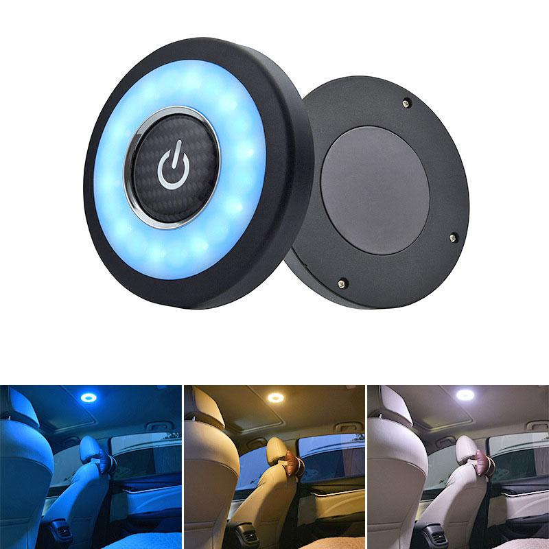 Universal USB Rechargeable LED Car Reading Light Magnetic LED Car Styling Night Light Interior Roof Doom Lamp