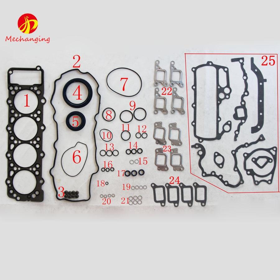 Prix pour 4m40 4m40t pour mitsubishi pajero 2.8 ou au galop 35 ensemble complet automobile pièces de rechange moteur pièces de moteur joint me996729
