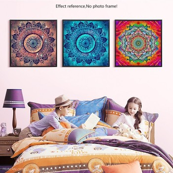 HUACAN Diamond Mosaic Abstract Full Drill Square 5D DIY Diamond Painting Nation Diamond Embroidery Picture