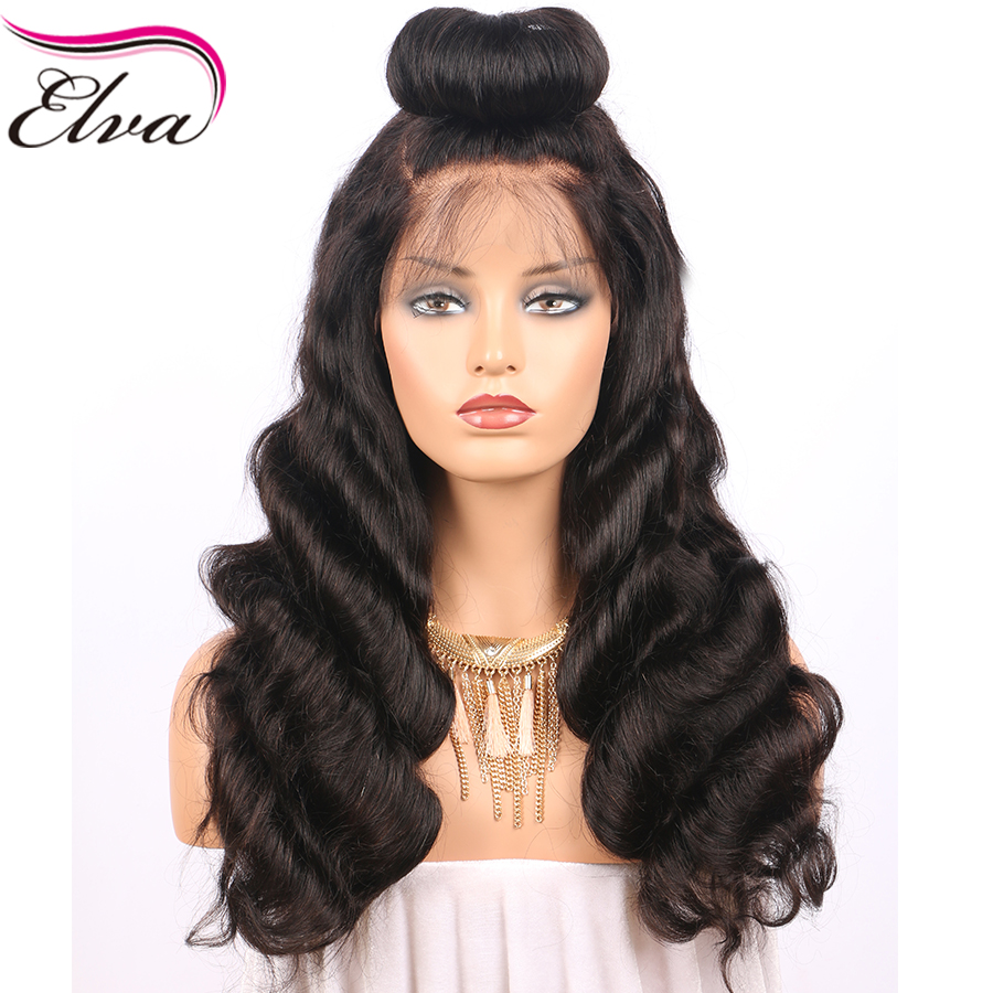 250% Density Lace Front Human Hair Wigs Pre Plucked ...