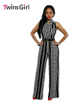 2016 New Fashion Sexy Club Rompers Women Jumpsuit 2 Colors Print Gold Belted Jumpsuit LC64021 Macacao