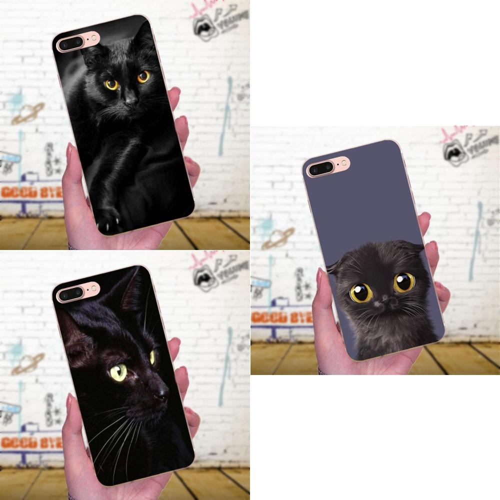 TPU Covers Cases Black Cat Staring Eye For Huawei Mate 7 8 9 10 20 P8 P9 P10 P20 P30 Lite Plus Pro 2017 image