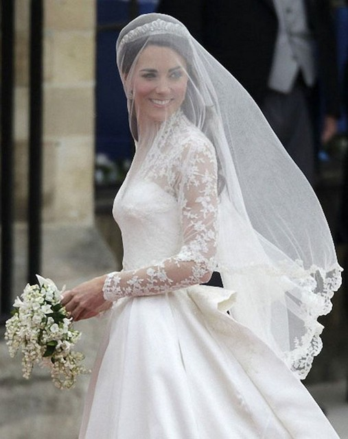 Custom Champagne Bridal Veils One Layer Tulle Princess Head Hair Pieces White Ivory Black Short Lace