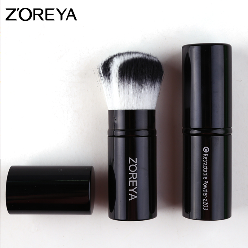 Zoreya Brand New Arrive Fashion Retractable Foundation Face Makeup Brush Women Cosmetic Powder Makeup Brush 2 Color Available retractable cosmetic makeup powder multifunction brush claret red