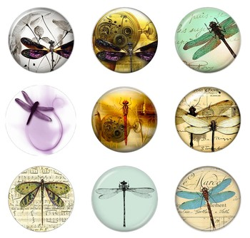Hot sale 5pcs16mm20mm25mm Vintage Steampunk Dragonfly  Handmade Photo Glass Drop Style Cabochons Jewelry Accessories 2020 hot sale new fashion 5pcs lot 25mm handmade photo glass cabochons