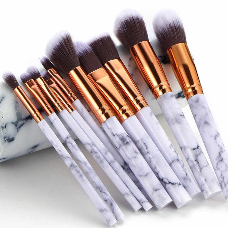 Marble Texture Makeup Brush Foundation Concealer Powder Eyeshadow Eyebrow Brush plastic makeup brushes pincel maquiagem #N
