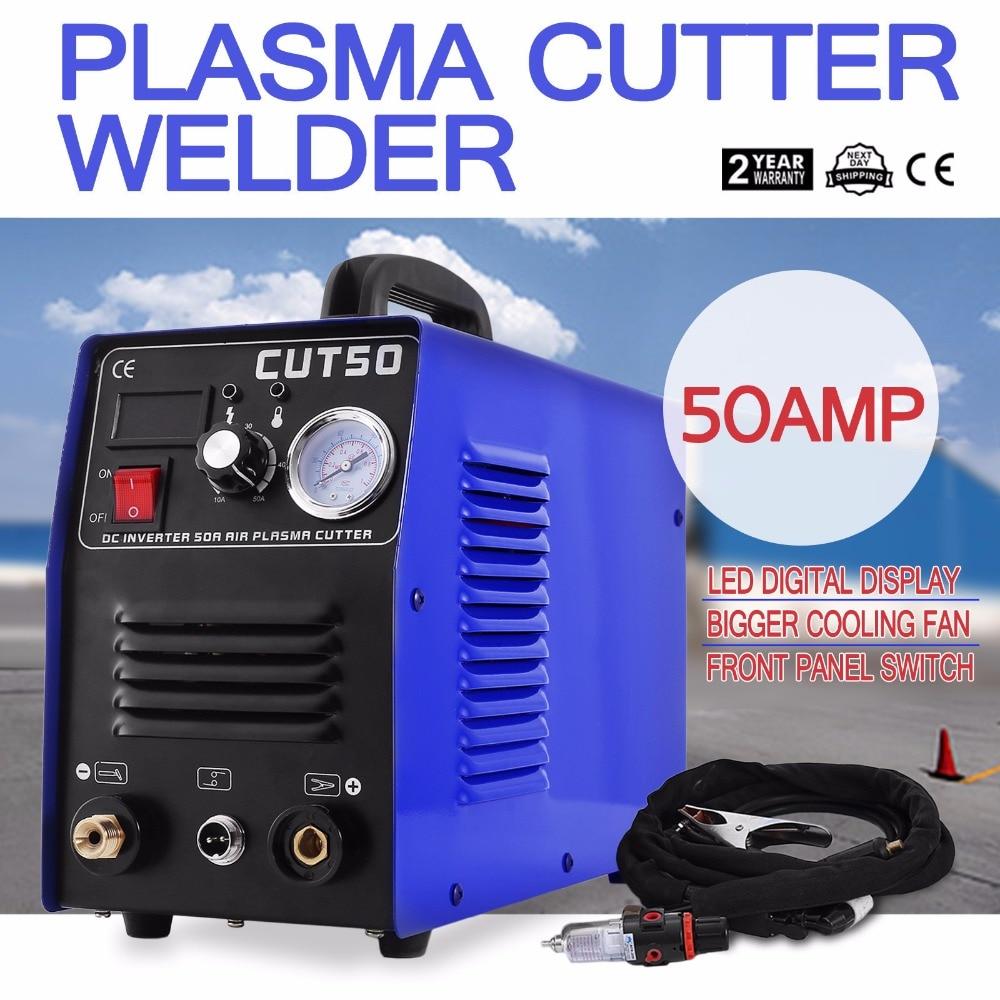 5.5 KVA évalué puissance d'entrée Plasma Cutter Tig bâton soudeur CUT50 onduleur numérique Machine de soudage (50A Plasma Cutter)