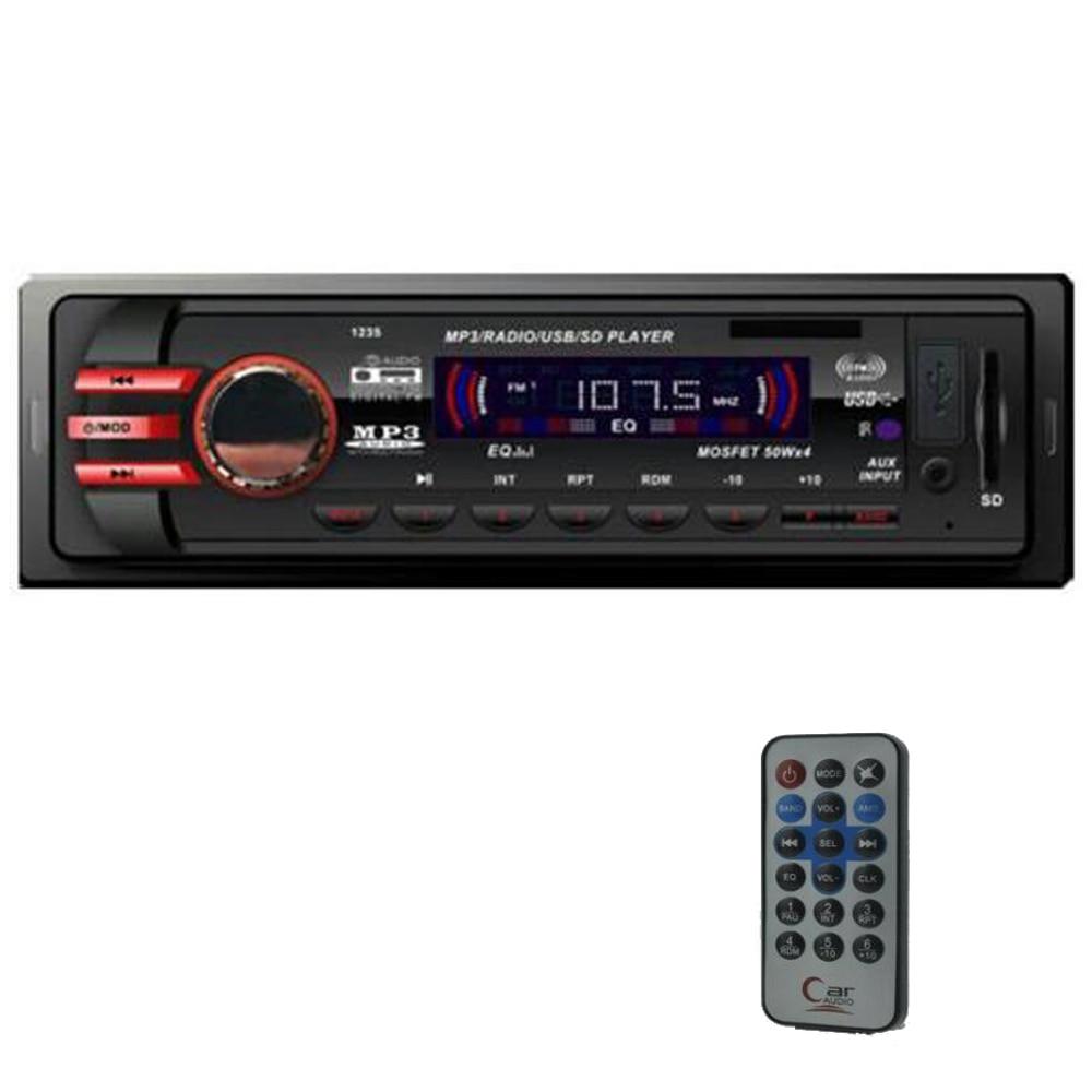 nový 12V autorádio Stereofonní přehrávač MP3 auto Audio auto 1 z velikosti In-Dash FM rádio USB / SD / AUX dálkové ovládání 5V nabíječka