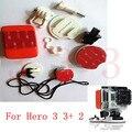 Atacado gopro hero kit de expansão de prancha de surf mounts kits + gopro flutuante com 3 m adesivo adesivo para gopro hero3 + 3 2 4