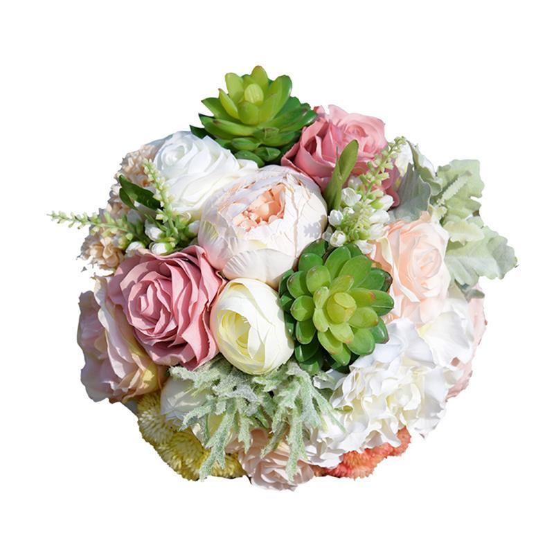 Wedding Bouquet Silk Bridesmaid Flowers Bouquet Succulent Bridal Bouquet Artificial Flowers For Wedding Party