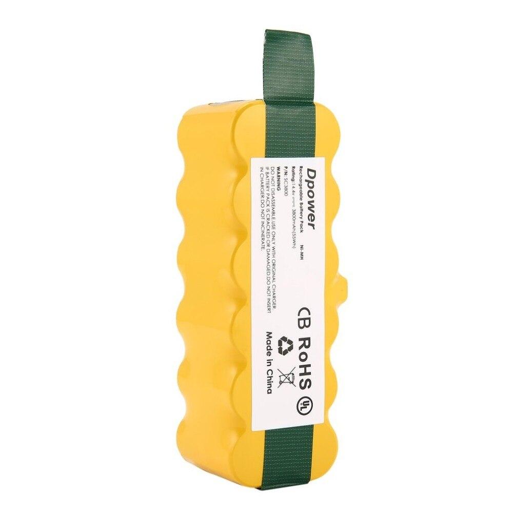 14.4 v 3800 4500 4800 Bateria Recarregável de 6000 mah Ni-MH Bateria de Substituição Apropriado para Irobot Roomba Aspirador 500 510