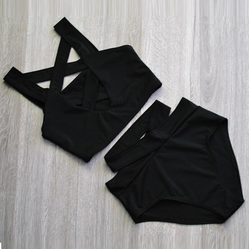 2017 Sexy Criss Cross Bikini Brazilian Bandage Swimsuit Women Push Up Swimwear Bikini Set Wrap Top Bathing Suit Biquini 3