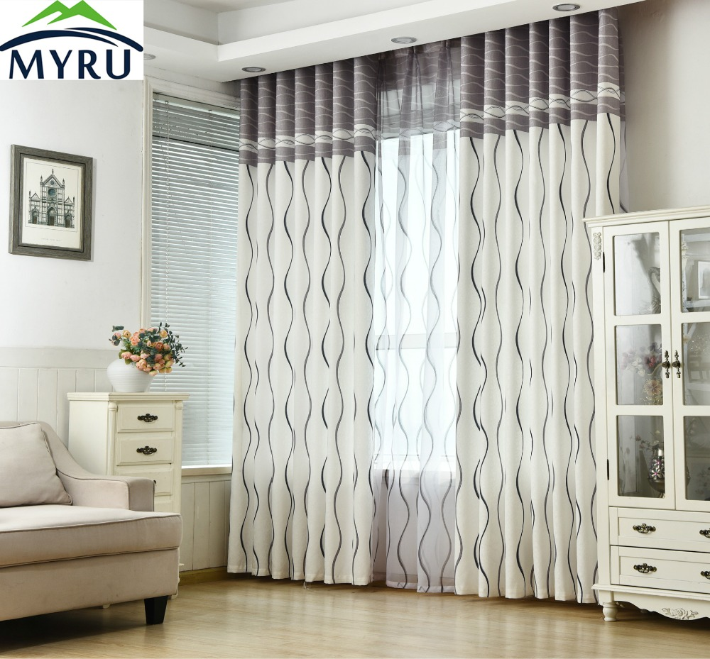 Black and white striped curtain - Myru Black And White Stripes Environmental Protection Printing Curtain China Mainland