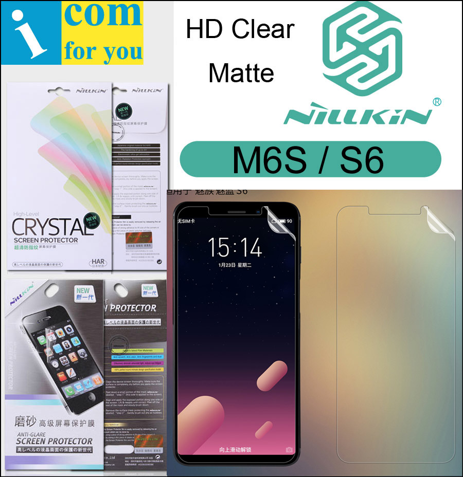 Nillkin Mat HD Écran Clair De Protection Film Pour Meizu M6S S6 Souple Transparent Cristal