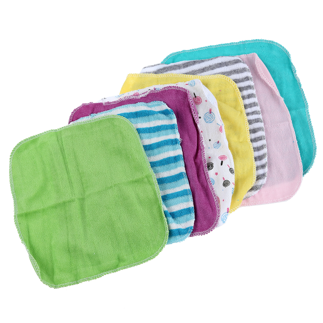 New Baby Face Washers Hand Towels Cotton Wipe Wash Cloth 8pcs/Pack