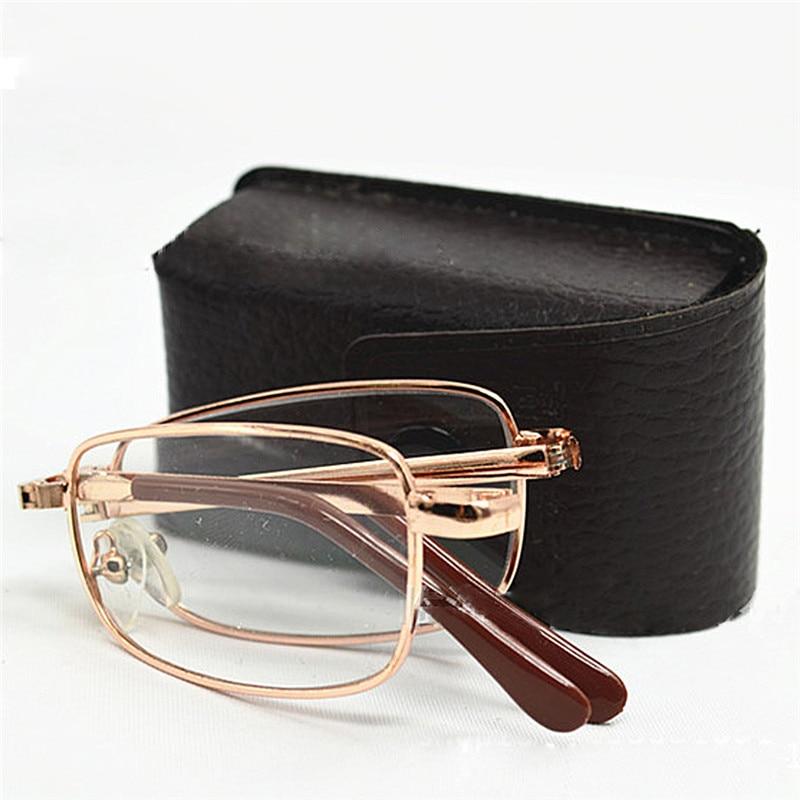 Складные мини-очки для чтения для мужчин и женщин, ультралегкие часы, очки для дальнозоркости с диоптриями 1,5, 3,5, тонкие складные маленькие о...