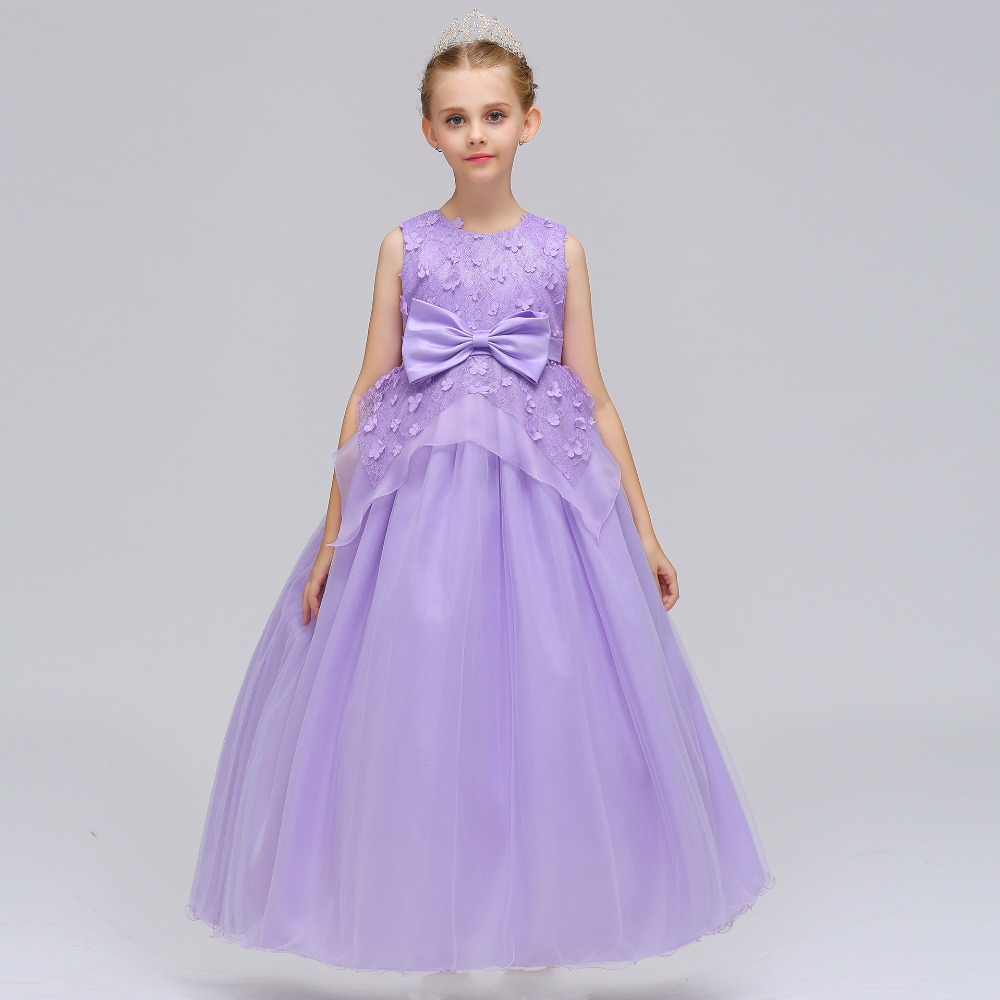 New Arrival 2019 Flower Girl Dress O-Neck Organza Ball Gown Ostrich ...