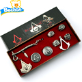 2016 Hot Game Assassins Creed Necklace Cosplay Necklace Pendants 8pcs Set Assassins Creed Costume Pendant Alloy Necklace Jewelry