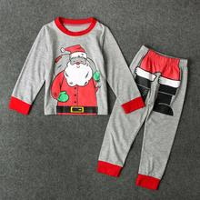 Детские Рождественские топы с Санта Клаусом для маленьких мальчиков и девочек, рубашка и штаны, комплект одежды, ropa bebe, милая модная одежда, July28